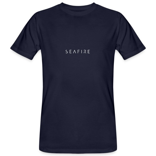 Seafire logo WHITE - Mannen Bio-T-shirt
