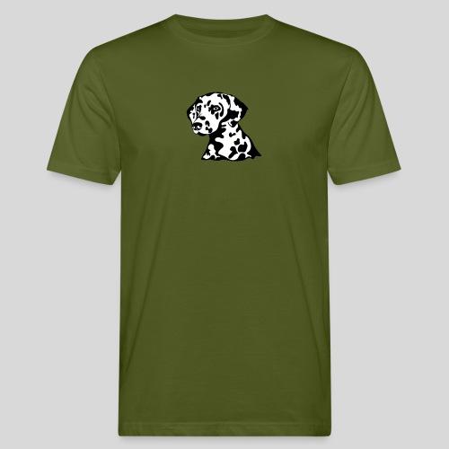 Dalmatiner *schwarz/weiss* gefüllt - Männer Bio-T-Shirt
