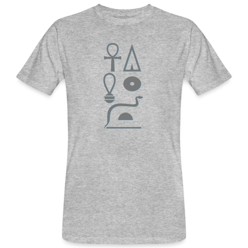 Hieroglyphen - Leben wie Re ewig - Männer Bio-T-Shirt