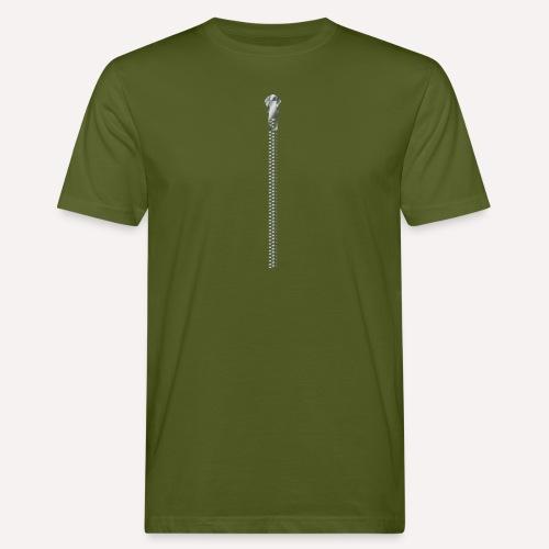 Zipper print - Men's Organic T-Shirt