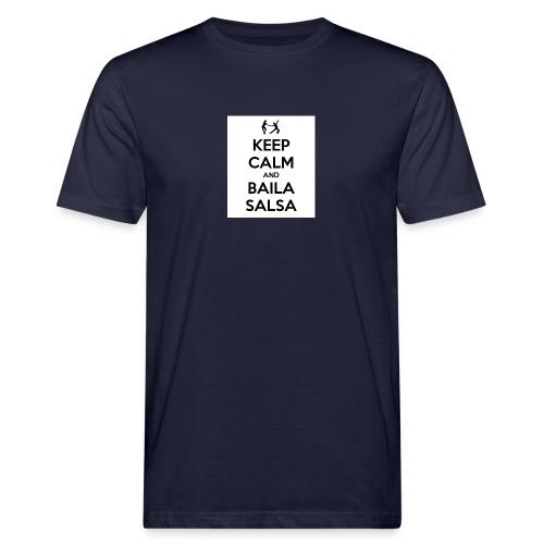 keep-calm-and-baila-salsa-41 - T-shirt ecologica da uomo