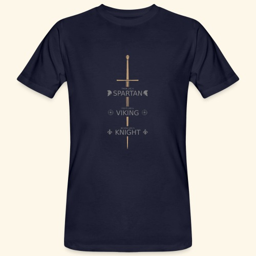 Spartan Viking Knight GRAU - Männer Bio-T-Shirt