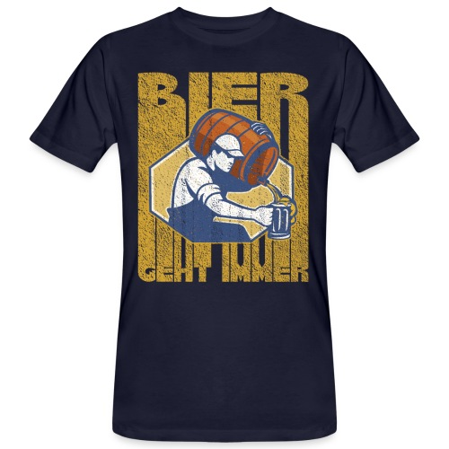 Bier geht immer - Männer Bio-T-Shirt