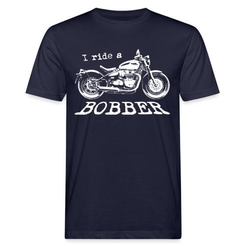 I ride a bobber - hvid - Organic mænd