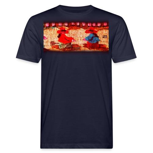 Dos Paisanitas tejiendo telar inca - Camiseta ecológica hombre