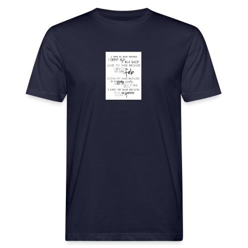 I LOVE MY HAIR - Men's Organic T-Shirt