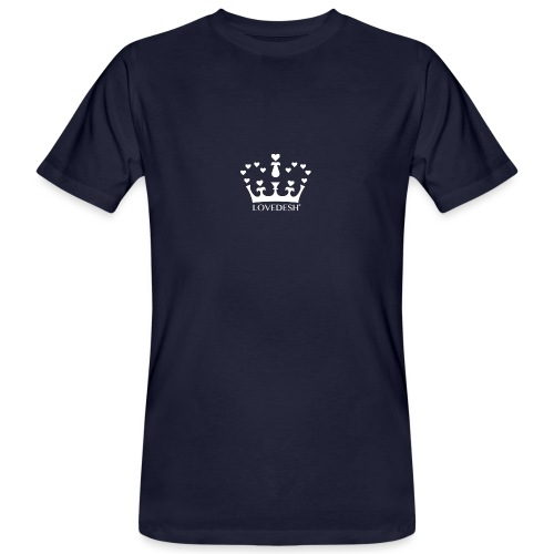 White Lovedesh Crown, Ethical Luxury - With Heart - Men's Organic T-Shirt