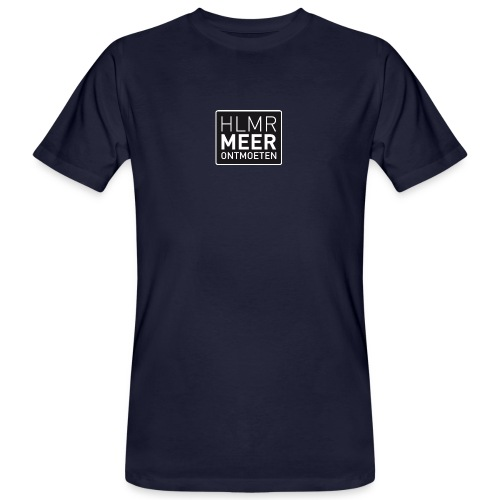 hlmr ontmoeten w op drukwer 500 - Mannen Bio-T-shirt