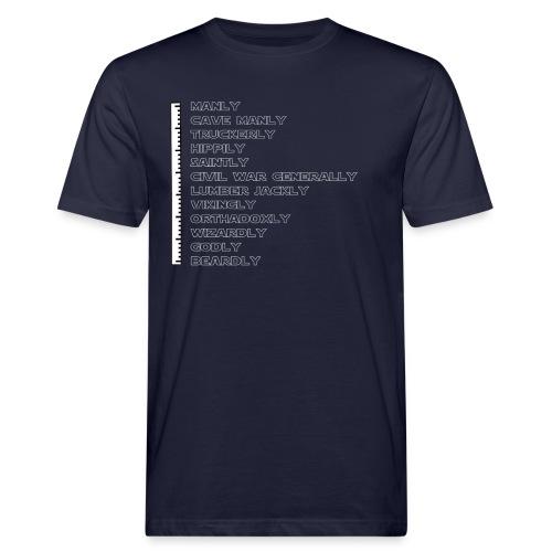 smallerbeardscale white png - Men's Organic T-Shirt