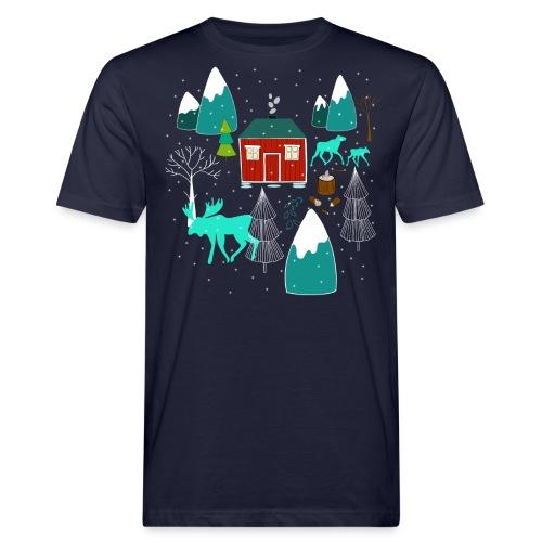 Weihnachten Elch I Geschenk Winterstimmung - Männer Bio-T-Shirt