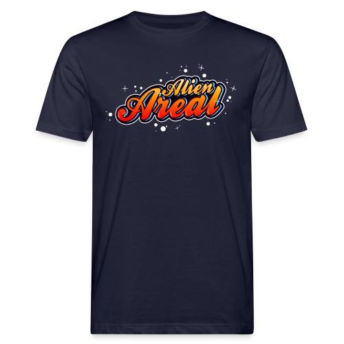 Colorful Alien Logo - Økologisk T-skjorte for menn