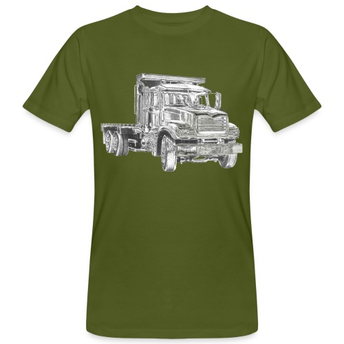 Flatbed Truck 3-axle - Men's Organic T-Shirt