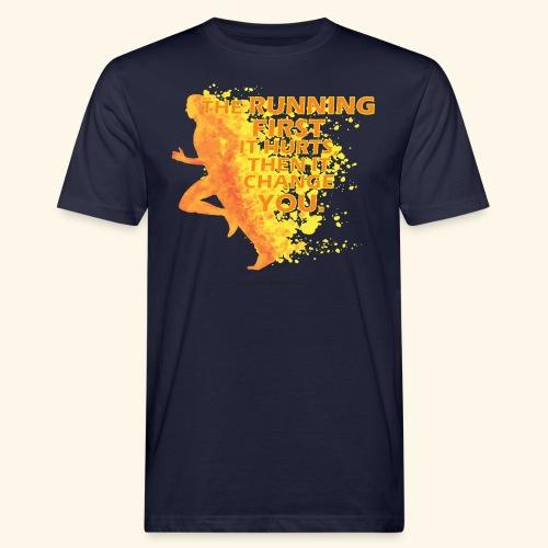 Motivo _ The Running First it Hurts - T-shirt ecologica da uomo