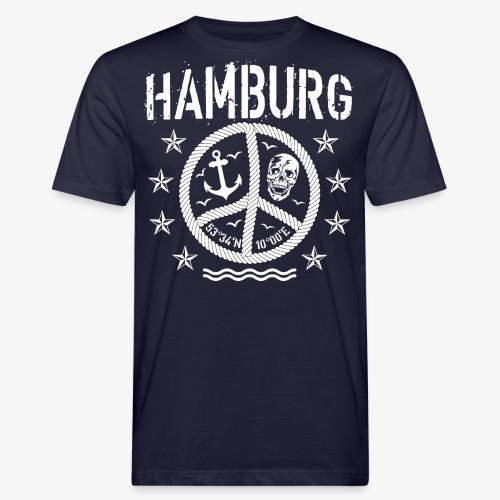 105 Hamburg Peace Anker Seil Koordinaten - Männer Bio-T-Shirt