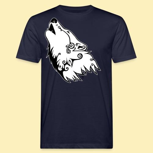 Le Loup de Neved (version contour blanc) - T-shirt bio Homme