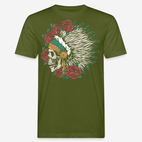 indische Schädelrosen - Männer Bio-T-Shirt