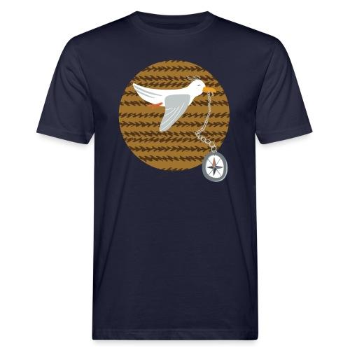 Freche Möwe stiehlt Kompass und fliegt davon - Männer Bio-T-Shirt