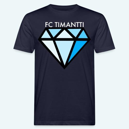 FCTimantti logo valkteksti futura - Miesten luonnonmukainen t-paita