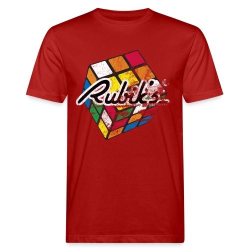 Rubik's Cube Colourful Retro Magic Cube - Ekologisk T-shirt herr