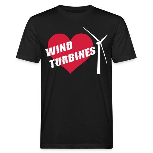 wind turbine grey - Men's Organic T-Shirt