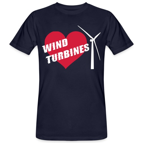 wind turbine grey - Men's Organic T-Shirt