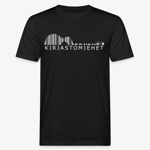 Kirjastokitara valkoinen - Miesten luonnonmukainen t-paita