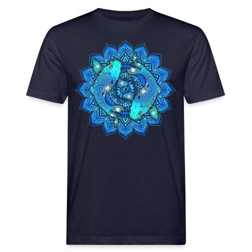 Asian Pond Carp - Koi Fish Mandala 1 - Männer Bio-T-Shirt