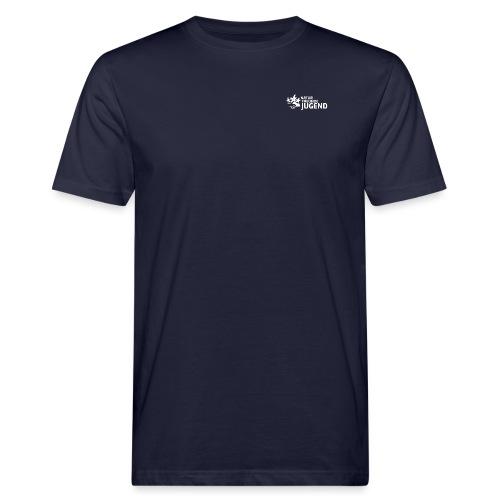LogoNFJ_W_PNG - Männer Bio-T-Shirt