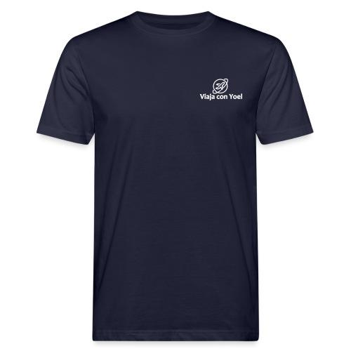 Viaja con Yoel White Logo - Camiseta ecológica hombre