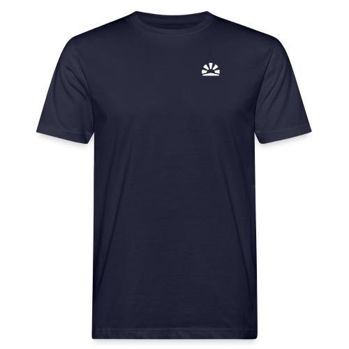 Julian Hanßen Logo (weiß) - Männer Bio-T-Shirt