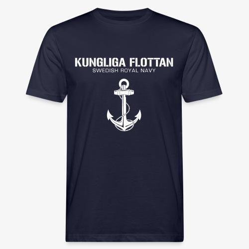 Kungliga Flottan - Swedish Royal Navy - ankare - Ekologisk T-shirt herr
