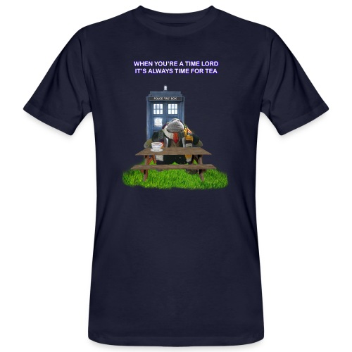 TIME AND SPACE AND TEA - Men's Organic T-Shirt