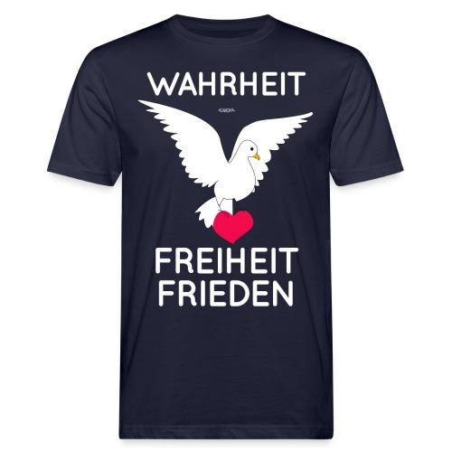 Wahrheit, Freiheit, Frieden - Männer Bio-T-Shirt