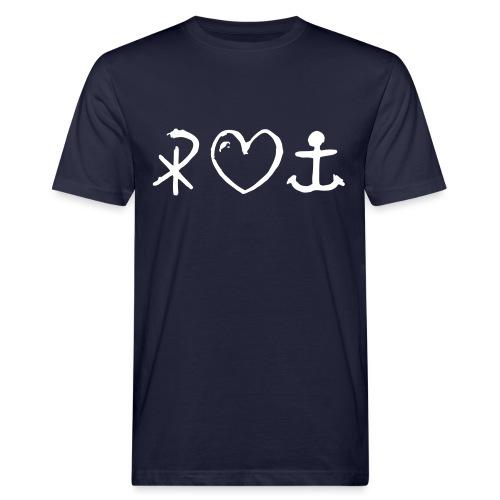 glaubeliebehoffnung_sw - Männer Bio-T-Shirt