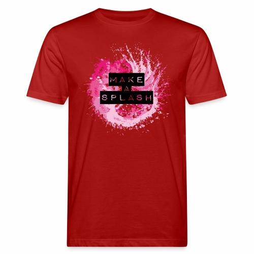 Make a Splash - Aquarell Design - Männer Bio-T-Shirt