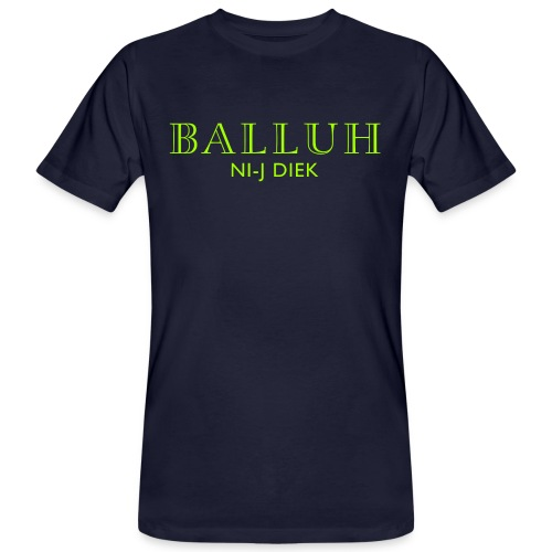 BALLUH NI-J DIEK - navy/neon - Mannen Bio-T-shirt