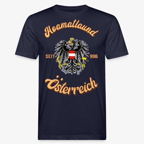 Österreich hoamatlaund retro desígn - Männer Bio-T-Shirt