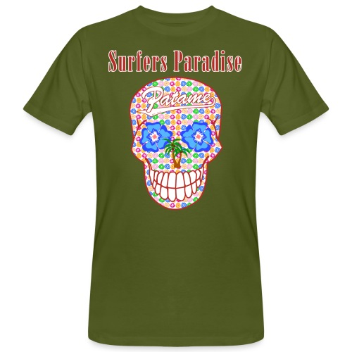 Patame Surfers Paradise Skull Red - Männer Bio-T-Shirt