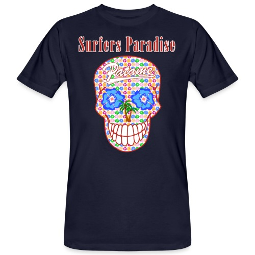 Patame Surfers Paradise Skull Red - Männer Bio-T-Shirt