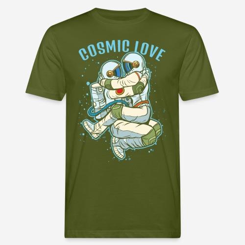 kosmische Liebe Astronautenraum - Männer Bio-T-Shirt