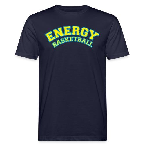 street wear logo giallo energy basketball - T-shirt ecologica da uomo