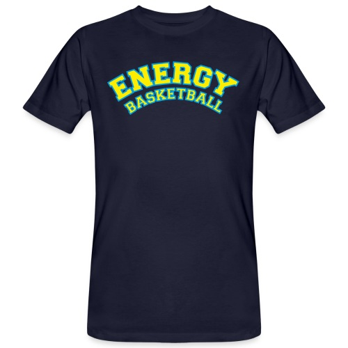 street wear logo giallo energy basketball - T-shirt ecologica da uomo