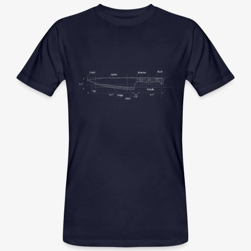 Cooks Knife Blueprint - Men's Organic T-Shirt