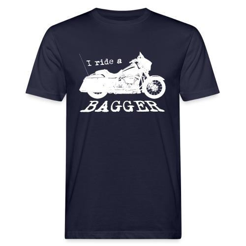 I ride a bagger - hvid - Organic mænd