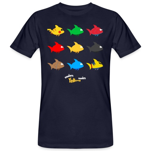 Swim! Yellow! Swim! - Mannen Bio-T-shirt