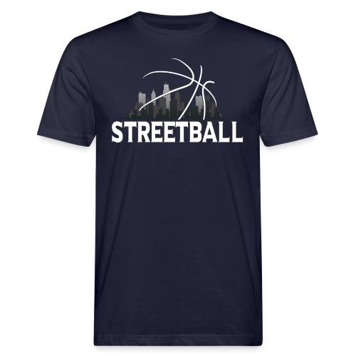 Streetball Skyline - Street basketball - Men's Organic T-Shirt