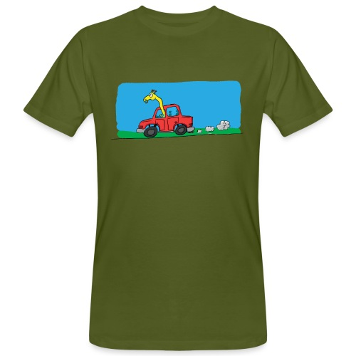 La girafe conductrice - T-shirt bio Homme