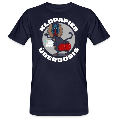 Lockdown Quarantäne Home Office Geschenk Klopapier - Männer Bio-T-Shirt