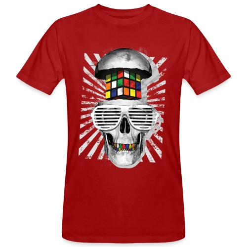Rubik's Skull Cube - Ekologisk T-shirt herr