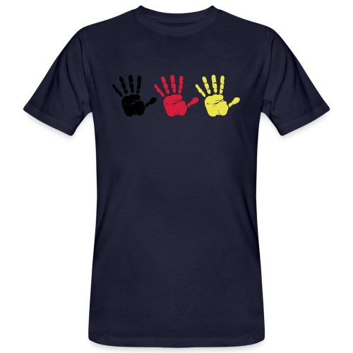 Handabdruck Trio - Männer Bio-T-Shirt